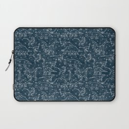 dinosaur constellations on midnight blue sky Laptop Sleeve