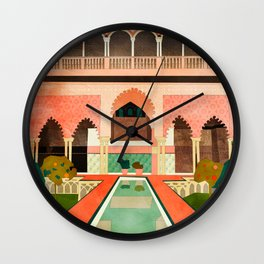 Travel Europe Spain abstract shape art Wall Clock