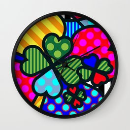 Lucky Cloverleaf SQuare Wall Clock