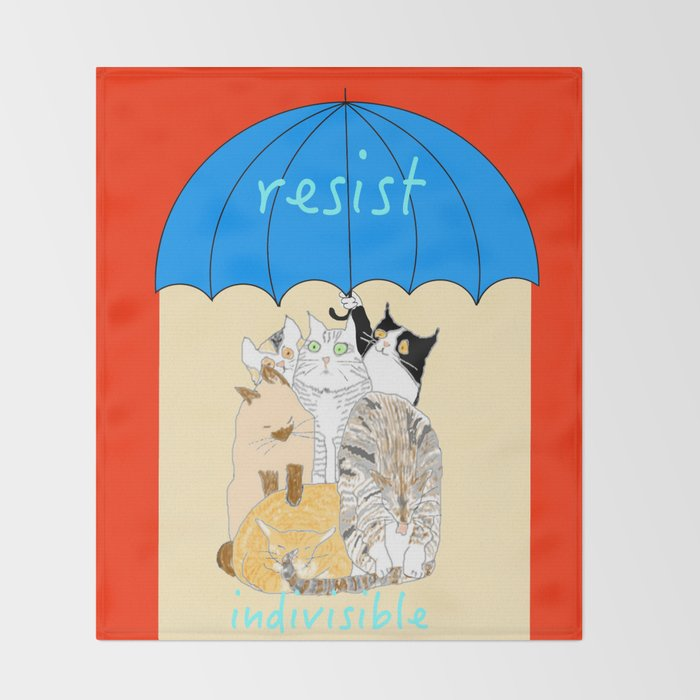 resist. indivisible Throw Blanket