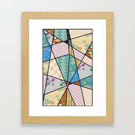 Mixed Pattern Abstract Art Framed Art Print