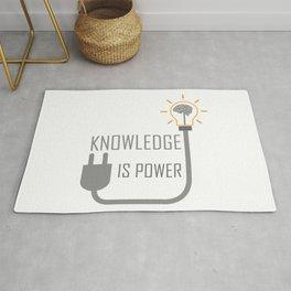Knowledge is power. Rug