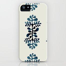blue shibori iPhone Case