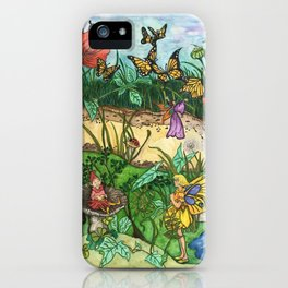 Day in the garden iPhone Case