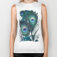 peacock Biker Tanks featuring Peacock by KunstFabrik_StaticMovement Manu Jobst