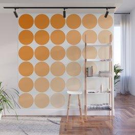 Orange Circle Color Charts Wall Mural