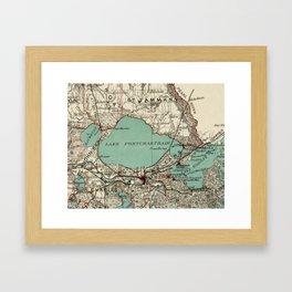 Vintage Map of Lake Pontchartrain (1887) Framed Art Print