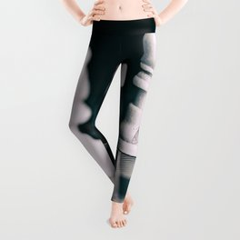black and white chess pieces and butterfly  Leggings