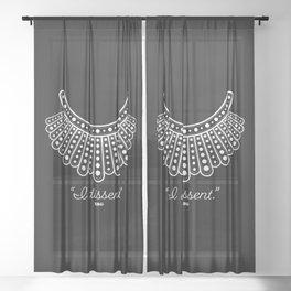 RBG Dissent  Sheer Curtain