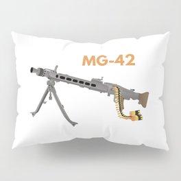 German WW2 Machine Gun MG-42 Pillow Sham