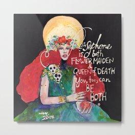 Goddess Persephone Metal Print