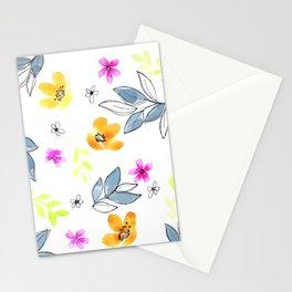 Meraki Bright Doodle Floral Stationery Cards