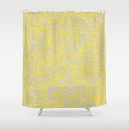Gold and White Shower Curtain