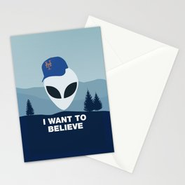 I WANT TO BELIEVE - METS Stationery Cards