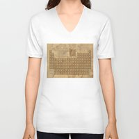 periodic table V-neck T-shirts featuring periodic table of elements by Bekim ART