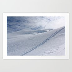 Snow Tracks Art Print