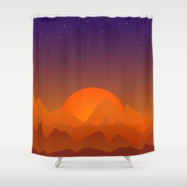 Slumbering Hills, Southwestern Landscape Art Shower Curtain