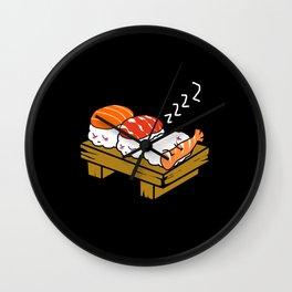 Sushi Kawaii Sleeping Maki Nigiri Japanese Food Wall Clock