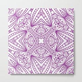 Mindful Mandala Pattern Tile MAPATI 37 Metal Print