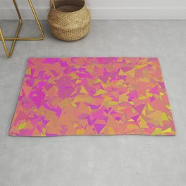 Pink, Orange, and Yellow Triangles Rug
