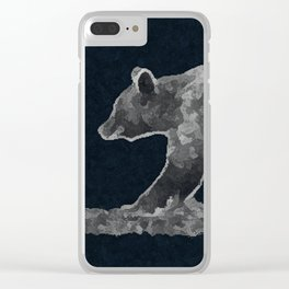 Bear on a mission Clear iPhone Case