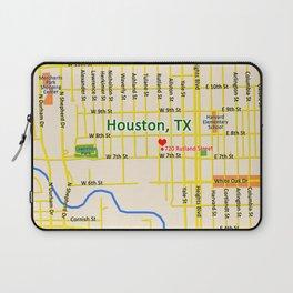 Map of Houston TX #1 Laptop Sleeve