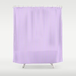 Lilac and White Gingham Check Shower Curtain