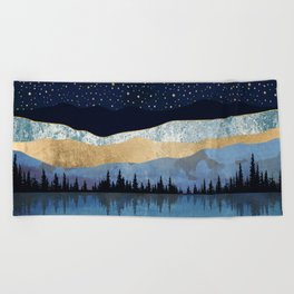 Midnight Lake Beach Towel