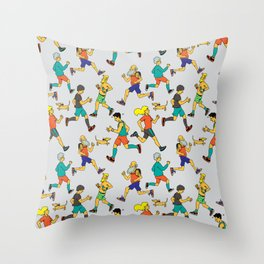 runners Throw Pillow