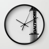 baltimore Wall Clocks featuring Baltimore by Kenneth Marti