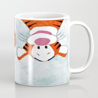 winnie the pooh Mugs featuring winnie the pooh and tigger by Art_By_Sarah