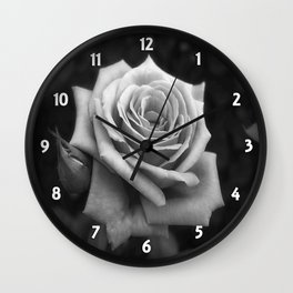Pink Roses in Anzures 4 B&W Wall Clock