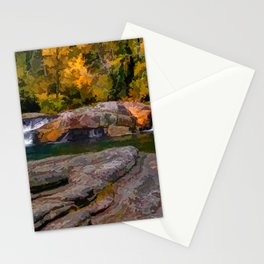 Linville Falls Digital Paint Stationery Cards