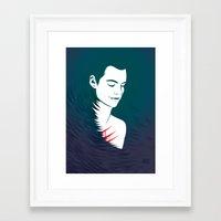 stiles stilinski Framed Art Prints featuring Teen Wolf Stiles Stilinski by neonico