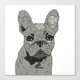 Frenchie Bulldog Puppy Canvas Print