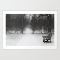 SNOW IN THE PARK Art Print
