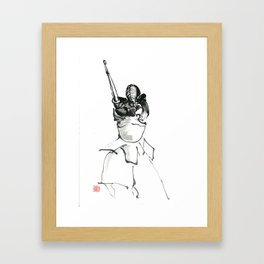 men strike Framed Art Print