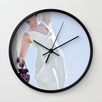 lantern Wall Clocks featuring Lantern by Iann Ivy Photo Art