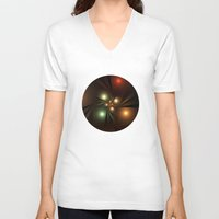 lights V-neck T-shirts featuring Lights by Klara Acel
