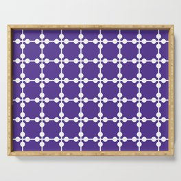 Droplets Pattern - Purple Serving Tray