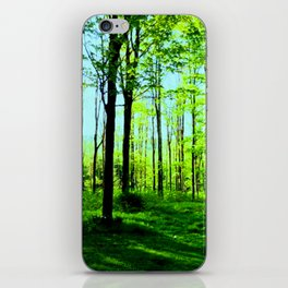 Sky Blue Morning Forest iPhone Skin