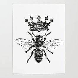 Queen Bee | Black and White Poster