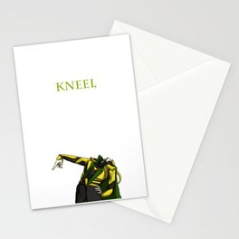 loki-kneel Stationery Cards