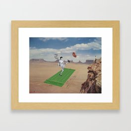 Out of my life! Framed Art Print