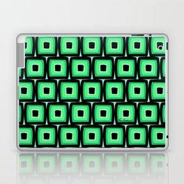 Mod Green Squares Laptop & iPad Skin