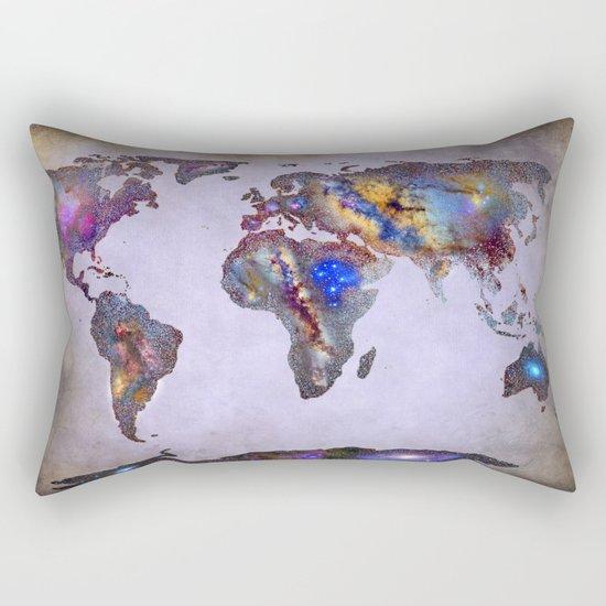 Stars world map. Space. Rectangular Pillow