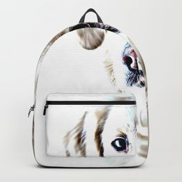 Drawing of a Yellow Lab Backpack