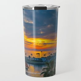 Sunset Sails at the Wedge Travel Mug