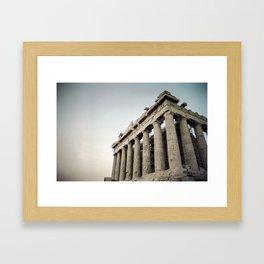 Faded Memories: Parthenon Framed Art Print