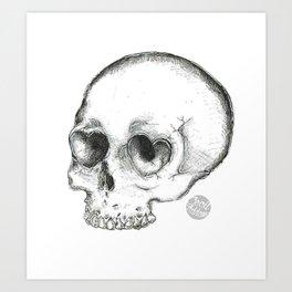 deadly heart eyes Art Print